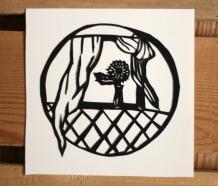Window paper cut art